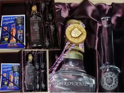 2 Darčekové Balenie Fľaša + Pijačky S Gravírovaním