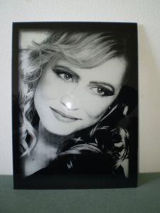 Gravírovaná fotografia  - čierne sklo