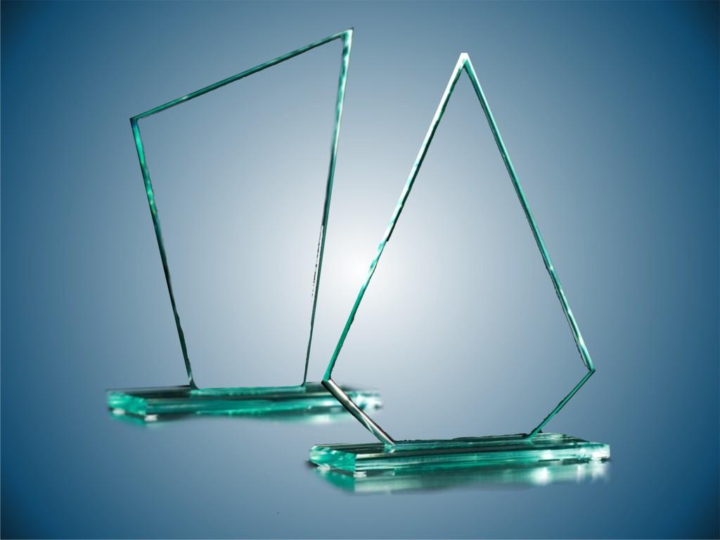 Plaketa sklo  - základné tvary